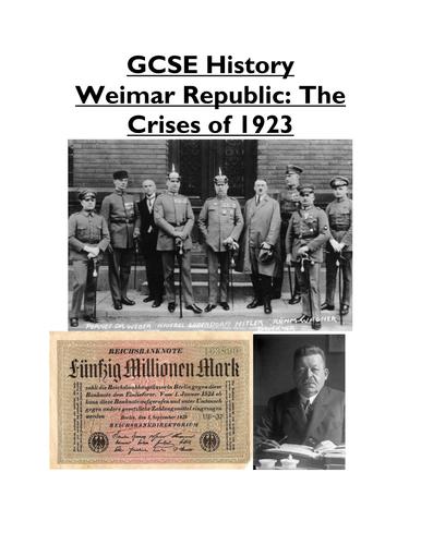 Weimar Republic - The Crises of 1923 - Lesson