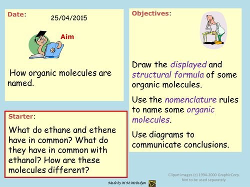 Organic Nomenclature Learning Game
