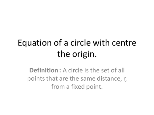 General formula for a circle new GCSE by headofslytherin – Equations of Circles Worksheet