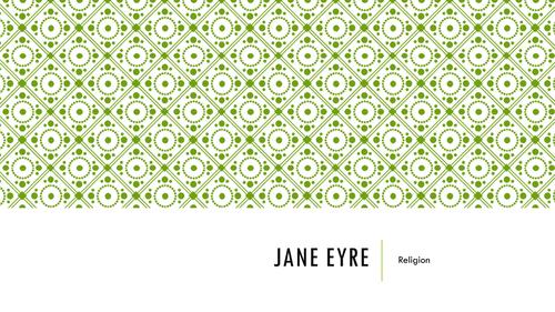 Jane Eyre - Religion