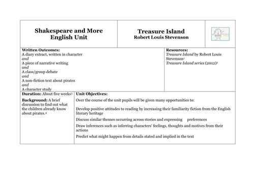 Treasure Island Ks2 Unit Of Work Teaching Resources
