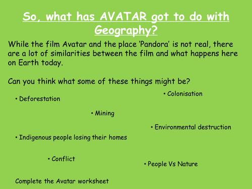 Avatar and The Amazon Rainforest