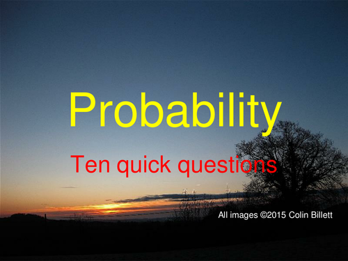 Probability at KS3, or Foundation GCSE.  Lots of resources, lots of activities.