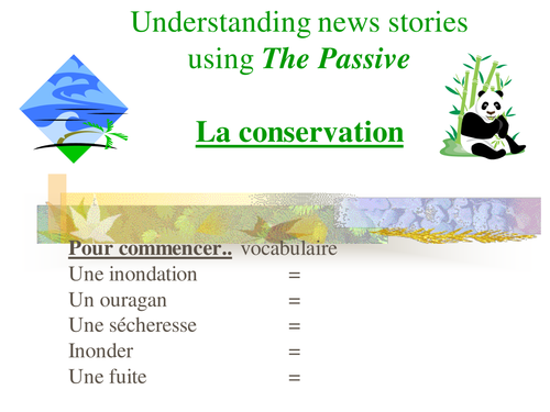 Conservation and the passive