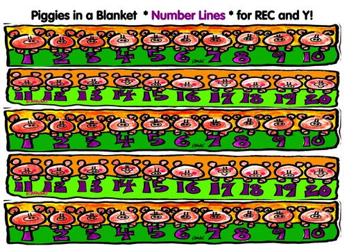 Piggies in a Blanket Number Lines for KS1