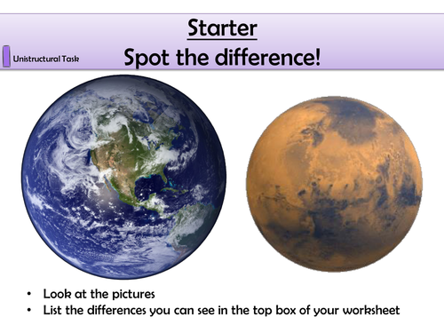 KS3 Why is There Life on Earth?