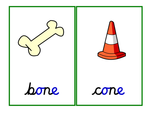 Phase 5: o-e grapheme [magic 'e' - split digraph]: activities, game and presentation.