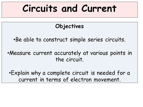 Circuits, Current and Parallel Circuits