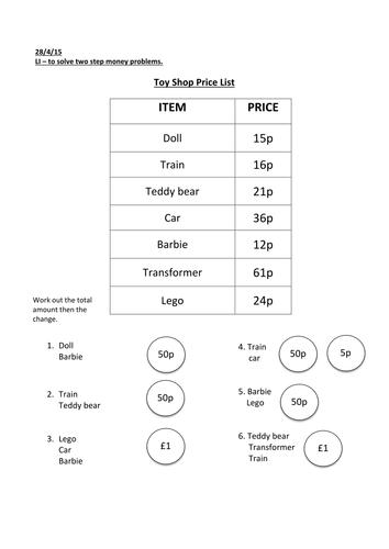 ks1 money finding change by jessicaturner1 teaching. Black Bedroom Furniture Sets. Home Design Ideas