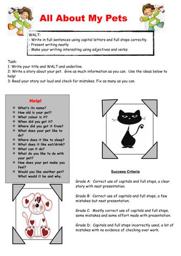 My Pets-Creative Writing Task