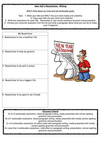 New Year Resolution Worksheets] New Years Worksheets And ...
