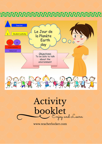 French Earth day Lesson + Activities (No Prep) / Le jour de la Terre en Français (leçon + Activité )