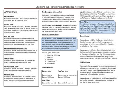 Interpreting Financial Accounts