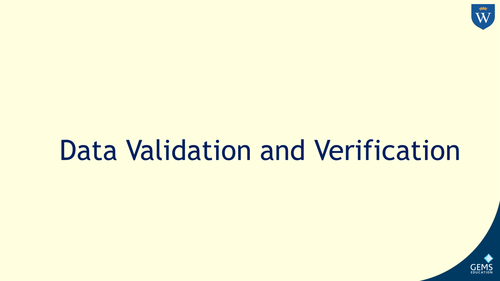 Data validation including check digit and data verification