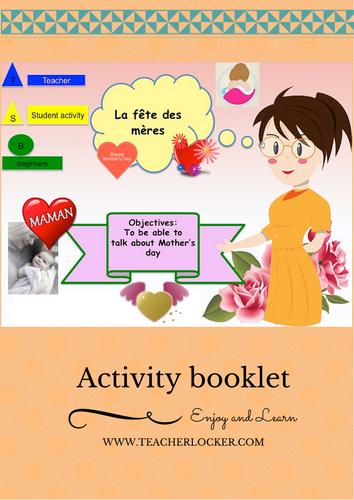 Mother's day lesson + activities in french (No Prep)/ La fête des mères en français leçon  activités