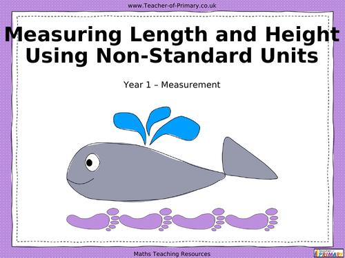 Measuring Length and Height Using NonStandard Units PowerPoint – Nonstandard Measurement Worksheet