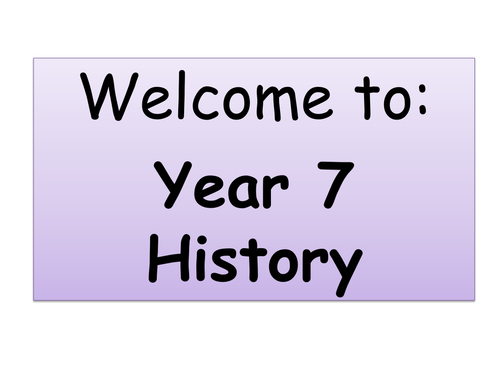 First lesson of Secondary History