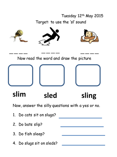 Phase 4 Sl Worksheet Teaching Resources