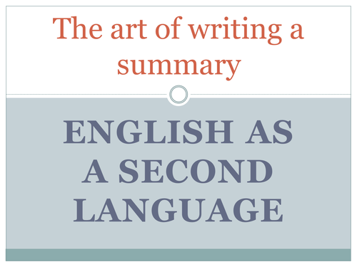 Summary writing for english as a second language by dshowarth summary writing for english as a second language by dshowarth teaching resources tes thecheapjerseys Image collections