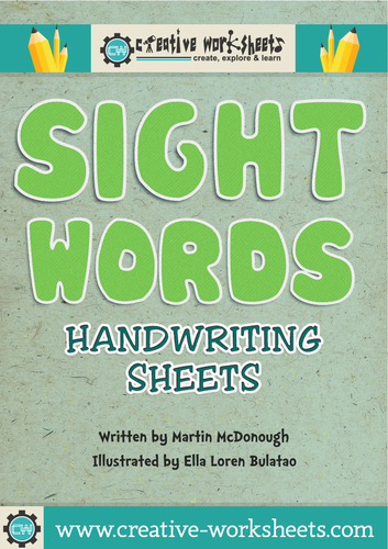 Sight Word Handwriting Sheets