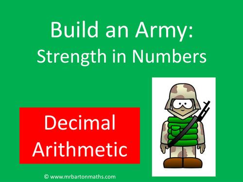 Build an Army: Decimal Arithmetic