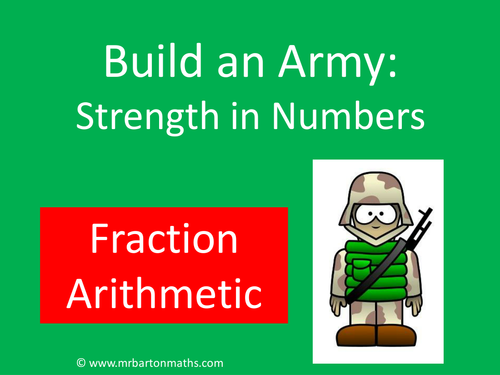 Build an Army: Fraction Arithmetic
