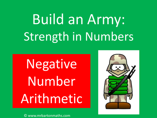 Build an Army: Negative Numbers Arithmetic
