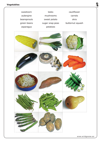 Name the vegetables!