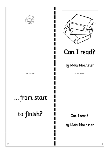 Printable Phonics Story Book - Can I read?