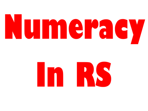 Numeracy in RS