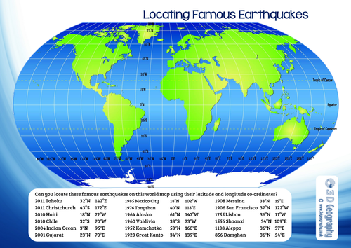 Locating earthquakes with longitude and latitude by idj teaching locating earthquakes with longitude and latitude by idj teaching resources tes gumiabroncs Choice Image