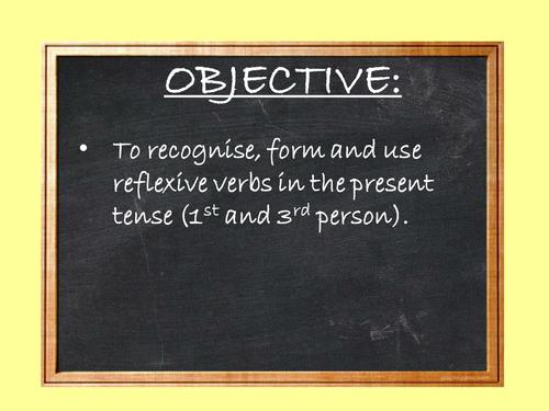 Reflexive verbs / daily routine