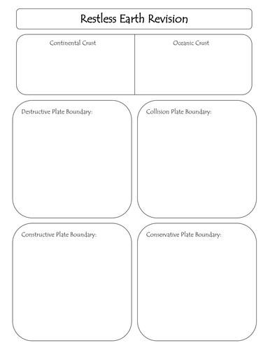 Restless Earth Revision Workbook