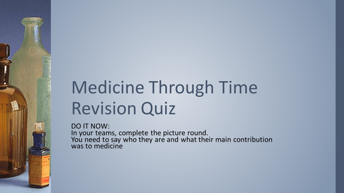 medicine through time revision quiz