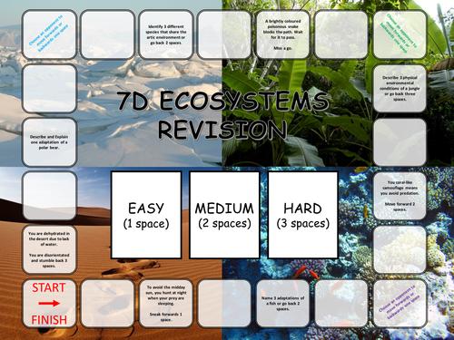 Adaptations Revision Board Game KS3