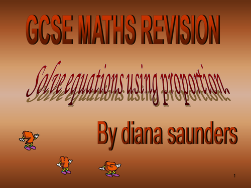 Gcse revision how to answer questions using proportion?