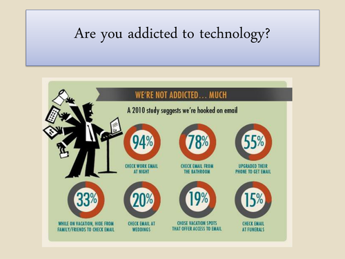 Are you addicted to technology? KS3 ICT task