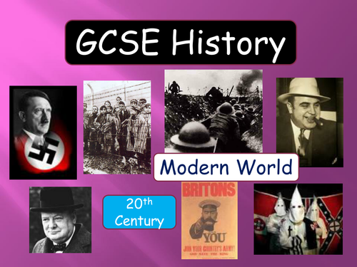 GCSE history revision modern world