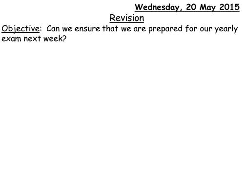 Foundation GCSE Maths Revision