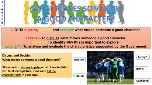 Character Education Lesson and Resources - Year 9