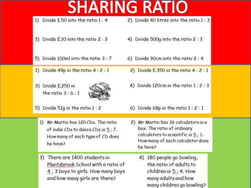 Sharing Ratio RAG Worksheet