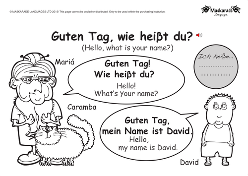 KS1 GERMAN: Greetings, Age, Gender, Manners by