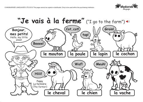 KS1 FRENCH: level 1: Farm and Zoo animals