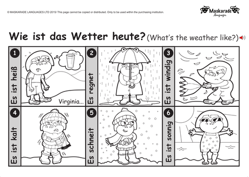 KS1 GERMAN: Level 1: Clothes, Weather & Holidays