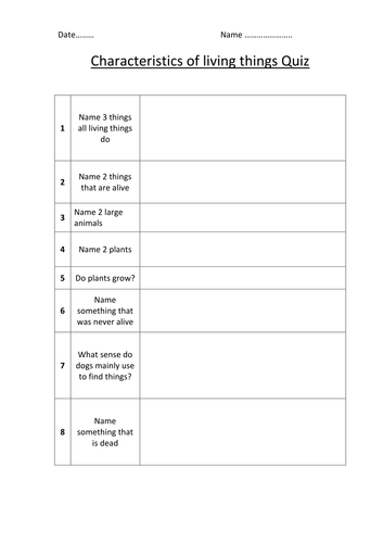 Characteristics of living things by halhalhal - Teaching Resources - Tes