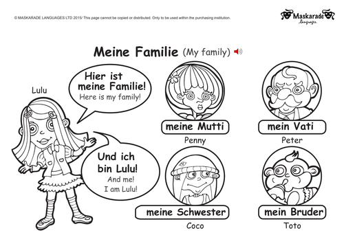 GERMAN: Level 1: My family