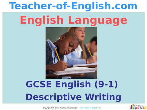 creative writing in english language