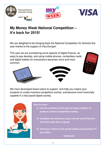 My Money Week Competition: design a set of Top Trumps cards, ages 3 - 7