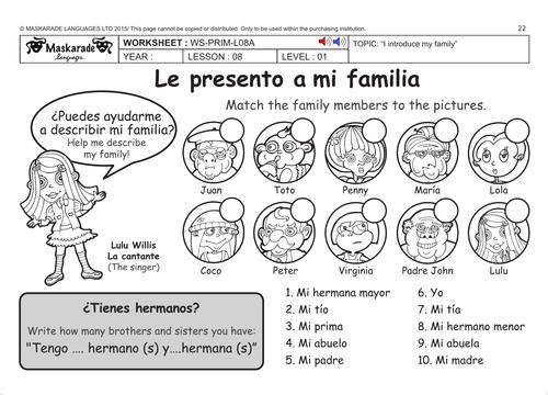 SPANISH KS2 Level 1: My family
