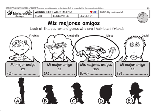 SPANISH KS2 Level 1: My best friends